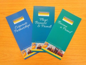 Shakespeare's Celebrations fund raising leaflets