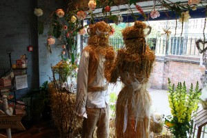 Hidden Garden Floral Design's winning Romeo and Juliet window display